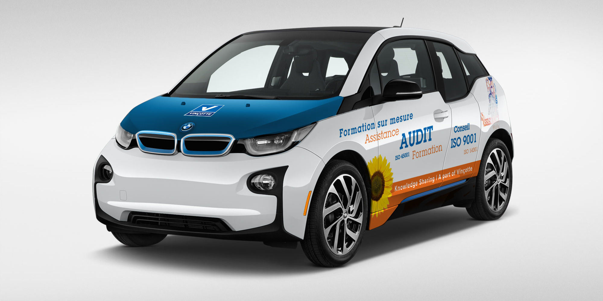 Vincotte Luxembourg Fahrzeugbeschriftung BMW i3