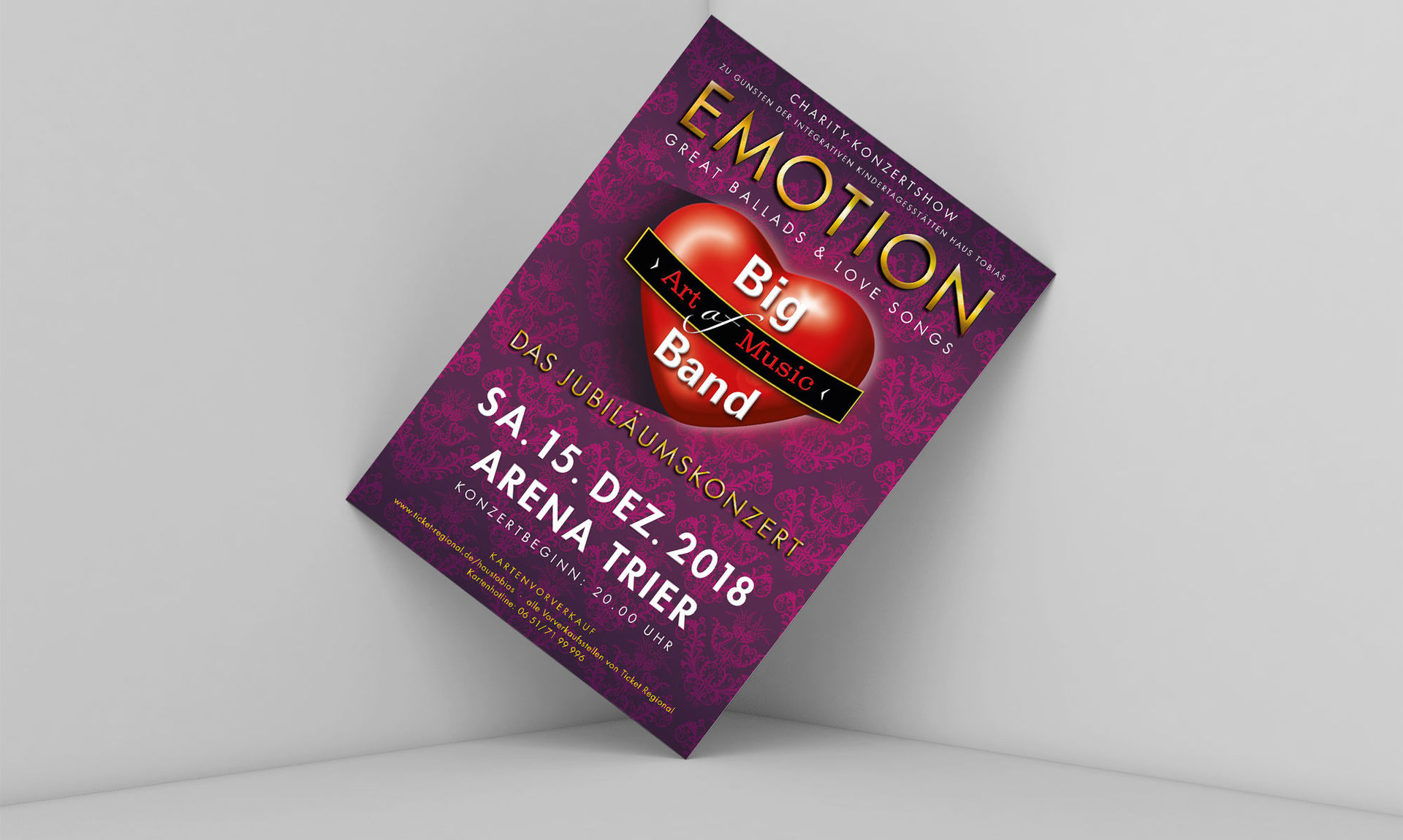 Big Band Art of Music Konzertflyer Emotion